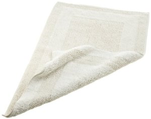 Pinzon Luxury Reversible Cotton Bath Mat, 30-by-50-Inch, White