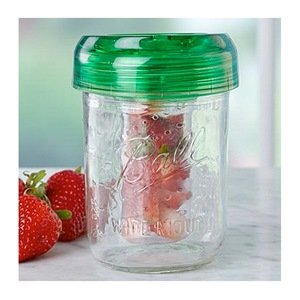 Ball wide mouth Mason infuser jar and lid