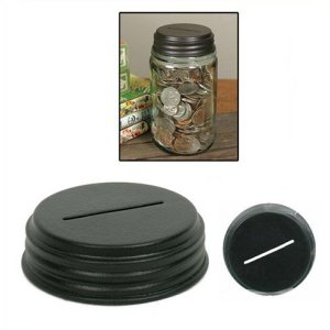 Coin Bank Mason Jar Cap