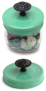 Cosmo Cricket COS-STP-68244 Show Toppers Decorative Knob and Lid, Green and Black.2