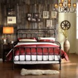 Homelegance Nottingham Metal Spindle Bed - Antique Dark, Bronze, Metal, Queen