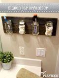 Mason jar bathroom caddy