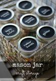 Mason jar craft storage