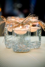 Mason jar floating candle holder