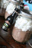 Mason jar hot cocoa gift