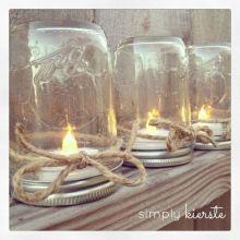 Mason jar tea light holders