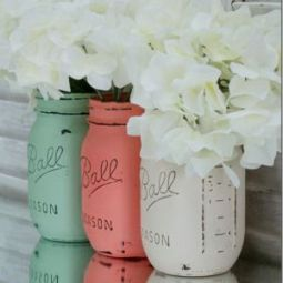 more Mason jar vases