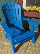 Phat Tommy Folding Recycled Poly Adirondack Chair Marina Blue