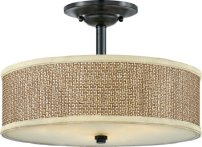 Quoizel ZE1717K Zen Large Semi Flush Mount, Mystic Black
