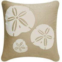 Sand Dollar 18 x 18 Inch Decorative Modern Organic Cotton Square Throw Pillow Cover, Khaki Brown