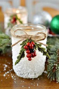 Snowy Mason jar
