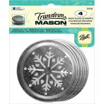 Transform Mason Ball Lid Inserts 4 Pkg - Snowflake