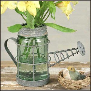 Watering Can Mason Jar Holder