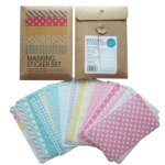 Wrapables Decorative Patterns Masking Sticker Set - Pastel