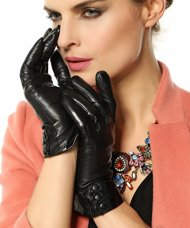 Bestselling Women's Winter Warm Nappa Leather Gloves (Plush cashmere Lining)