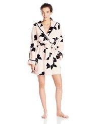 Betsey Johnson Women's Luxe Fleece Bow Robe