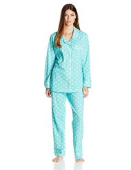 Bottoms Out Women's Knitted Pajama Set with Contrast Piping