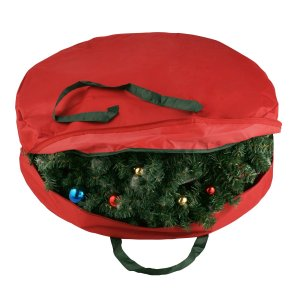 Elf Stor Supreme Canvas Holiday Christmas Wreath Storage Bag For 30 inch Wreaths
