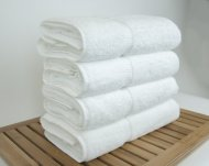 Luxury Hotel & Spa Bath Towel 100% Genuine Turkish Cotton, Set of 4,White