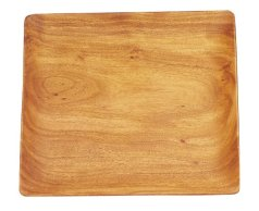 Pacific Merchants Acaciaware 12-Inch Acacia Wood Square Serving Tray