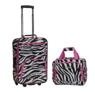 Rockland 2 Piece Luggage Set, Pink Zebra