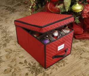 Whitmor 6129-2688 Christmas Ornament Storage Box