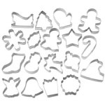 Wilton Holiday 18 pc Metal Cookie Cutter Set #2308-1132