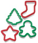 Wilton Holiday Grippy Cookie Cutters, Set of 4
