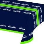 Creative Converting All Over Print Seattle Seahawks Plastic Banquet Table Cover