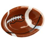 Football Shaped 10.5inch Plastic Bowl