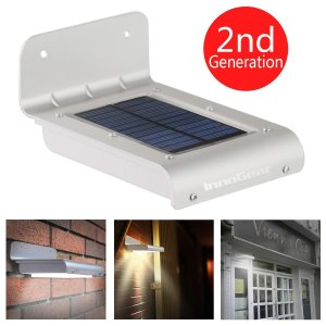 InnoGear® 16 LED Super Bright Waterproof Solar Powered Light Motion Sensor Outdoor Garden Patio Path Wall Mount Gutter Fence Security Lamp Light