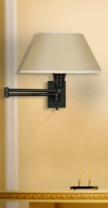 Kenroy Home 30110BLKP Simplicity Wall Swing Arm Lamp, Matte Black