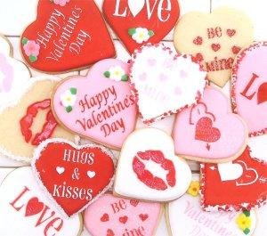 Designer Stencils C096 Valentine Cupcake Cookie Stencils, Beige Semi-Transparent