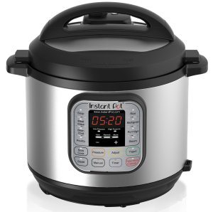Instant Pot IP-DUO60 7-in-1 Programmable Pressure Cooker, 6Qt 1000W, Stainless Steel Cooking Pot and Exterior, Latest 3rd Generation Technology