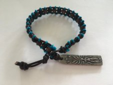 Shining Bee original Leather/Wood Beaded Mandrake Bracelet Adj. Size Fits Most